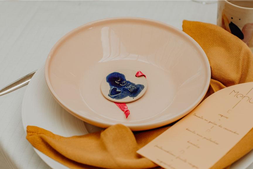 céramique assiette mariage auvergne