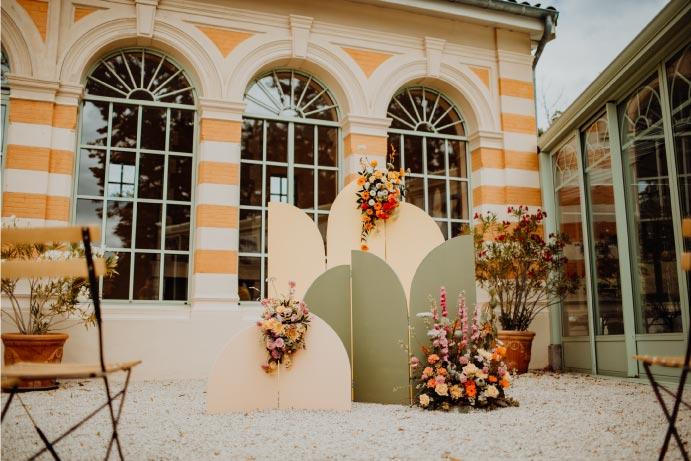décor shooting mariage auvergne Rhône alpes