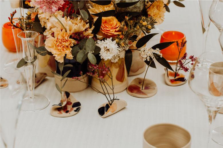 décoration table céramique fait main