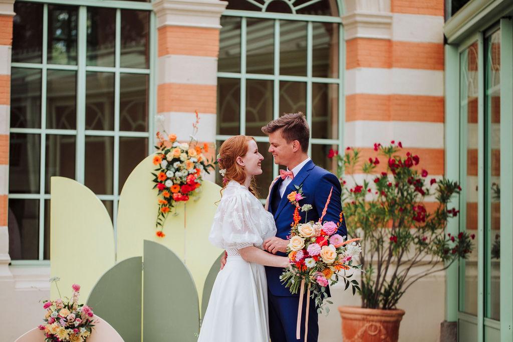photos décoration mariage thème peps