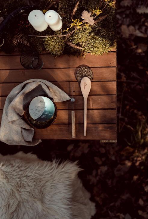 décoration table thème nature bois